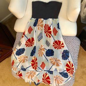 Roxy high-low strapless dress ☂️